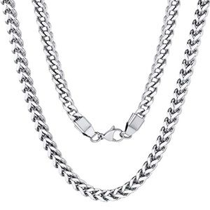 Silver Franco Snake Chain 6mm Necklace Unisex